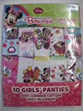 Minnie Mouse Bow-tique 10 Girls Panties 100% Cotton! (4T)