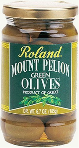 Buy Roland Mount  Pelion Green Olives, 6.7-Ounce Dry Weight Bags (Pack of 6) (Roland, Health & Personal Care, Products, Food & Snacks, Canned & Packaged Goods, Vegetables, Olives)