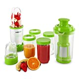 oneConcept Smoothy Mini Standmixer Smoothie Mixer  grün-weiß