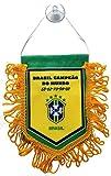 ブラジル代表 サッカーナショナルチームデザイン ミニペナント(吸盤付き)