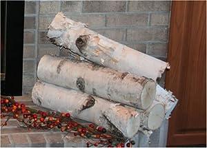 Large Birch Fireplace Log Set