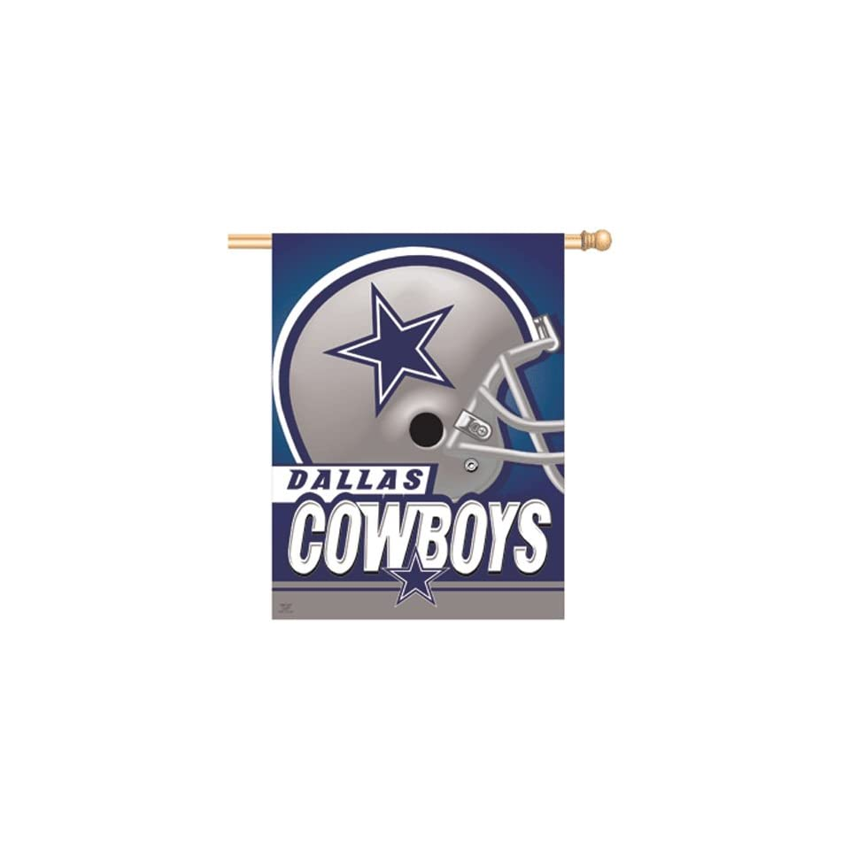 "Dallas Cowboys NFL Vertical Flag (27""""x37"""")  Sports Related Merchandise  Sports & Outdoors"