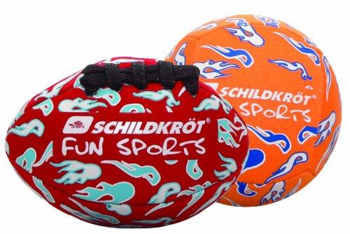 Schildkröt Fun Sports Neopren Mini Ball Duo-Pack, rot / orange, 9 cm Durchmesser