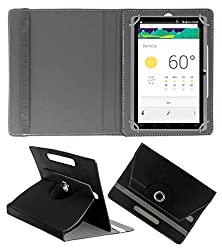 ACM ROTATING 360° LEATHER FLIP CASE FOR DOMO SLATE X15 TABLET STAND COVER HOLDER BLACK
