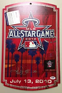 Jered Weaver Autograph PSA DNA All Star Game 2010 Placard Anaheim Angels signature...