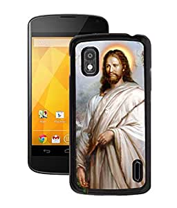 Fuson 2D Printed Lord Jesus Designer Back Case Cover for LG Google Nexus 4 - D545
