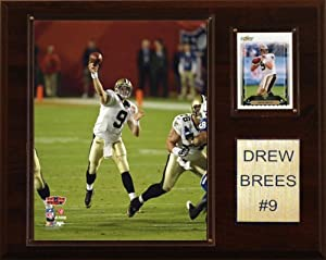 NFL Drew Brees New Orleans Saints Player Plaque by C&I Collectables