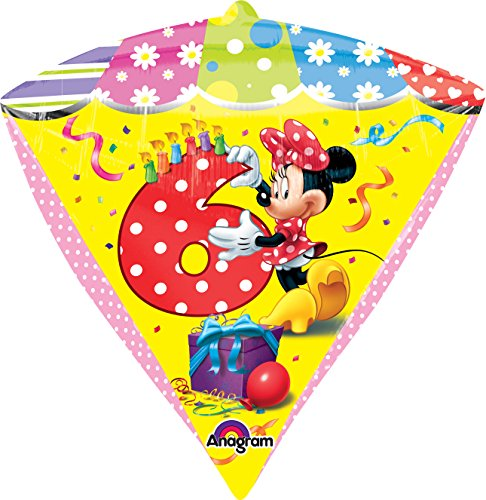 "Anagram International Minnie Age 6 Diamondz Balloon Pack, 17"", Multicolor"