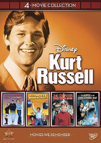 Sale alerts for Walt Disney Studios Entertainment Disney Kurt Russell Collection: Strongest Man In The World / Computer Wore Tennis Shoes / Horse In Grey Flannel Suit / Now You See Him - Covvet