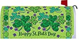 Clover Trio St. Patrick's Day Magnetic Mailbox Cover Shamrocks Holiday