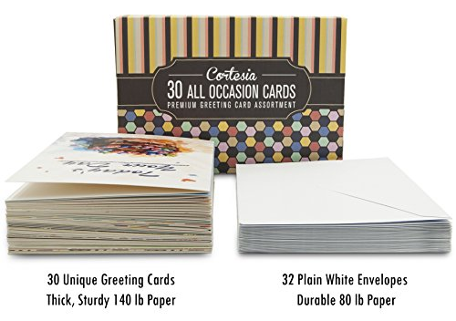 Popular birthday wishes delete cards for cortesia all occasion cortesia all occasion premium greeting cards assortment 30 unique designs box set m4hsunfo
