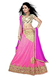 Eye Like Branded Collection Pink Coloured Women's Lehengha Choli With Lycra Crush fabrics