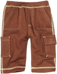 Babysoy Unisex-Baby Newborn Soft Cargo Pants, Chocolate, 12-18 Months