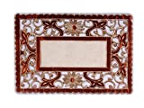 Orchid Lifestyle Beautiful Embroidery Brown Laminated Table Mats