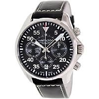 Hamilton H64666735 Men's Khaki Aviation Pilot Auto Chrono Watch (Black Dial)