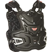 Fly Racing Pro Lite Adult Roost Deflector MX/Off-Road/Dirt Bike Motorcycle Body Armor - Black / One Size