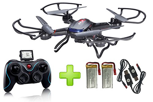 Holy-Stone-F181-RC-Quadcopter-Drone-with-HD-Camera-RTF-4-Channel-24GHz-6-Gyro-Headless-System-Black