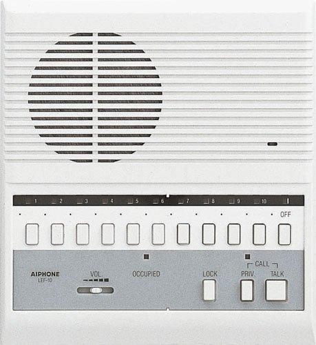 """Aiphone Lef-10 Open Voice Master Station, 10 Call, 11 Stations, 8-1/8"""" X 7-1/2"""" X 2-3/16"""" front-651890"""