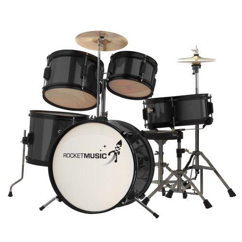 rocket-dkj02bk-5-piece-junior-drum-kit-black