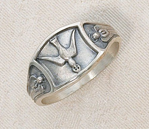 Sterling Silver Dove Holy Spirit Ring Size 6