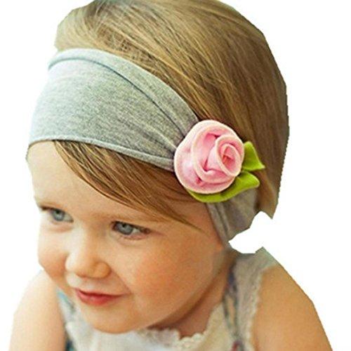 MaolankuBello Bambine infantile Bambino piccolo Fascia per capelli Arco Fiore (D)