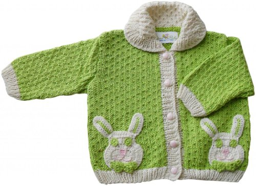 JuneBee Baby, Inc. My Energized Bunny Knitwear Cotton & Bamboo Baby Cardigan