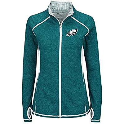 "Philadelphia Eagles Women's Majestic NFL ""Club Pass"" Full Zip Sweatshirt"