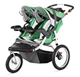 Schwinn Turismo Double Swivel Stroller, Green/Black