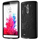 Case For LG G3, Cruzerlite USA Bugdroid Circuit AnDroid TPU Case For LG G3 - Black
