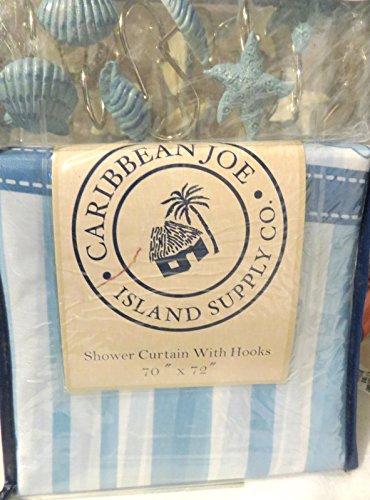 caribe-joe-isla-fuente-con-anillos-de-cortina-de-ducha-ganchos-de-la-costa-tropical-de-conchas