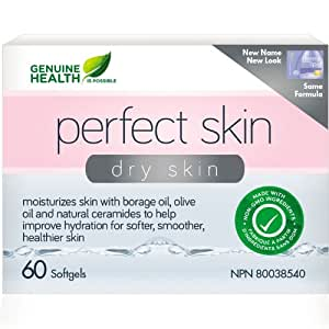 dermalipid Skin Hydration with phytoceramides (60 Capsules) Brand: Genuine Health