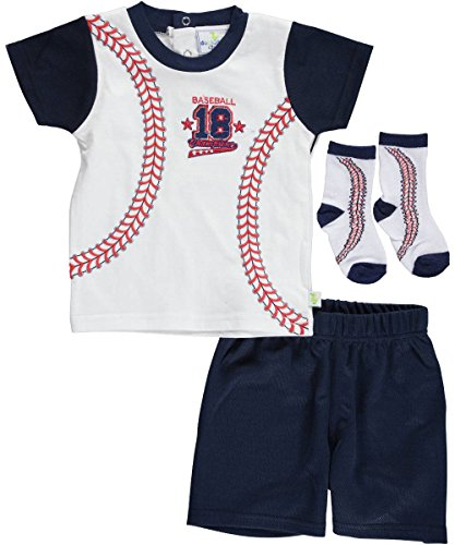 "Duck Duck Goose Baby Boys' ""Baseball Player"" 3-Piece Layette Outfit"