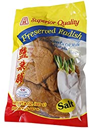 Superior Quality PRESERVED SALTED RADISH – 8 oz – Product of Thailand