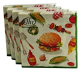 Ideal Home Range Burger Party Design, Set Of 80 Cocktail Napkins