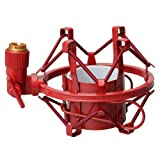 Olymstore(TM) Metal Microphone Mic Shock Mount Shockmount for Most Recording Microphones Red