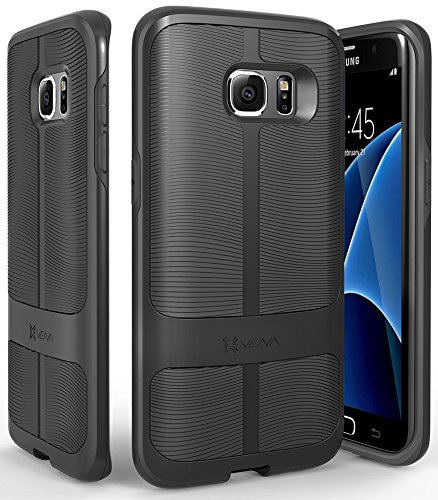 Galaxy S7 Edge Custodia, Vena [vAllure][CornerGuard ShockProof] Slim TPU Hybrid Case Cover Copertura per Samsung Galaxy S7 Edge