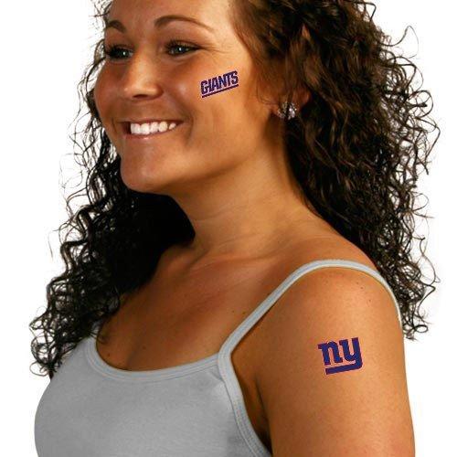 NFL New York Giants Tattoo Set (8 Piece)