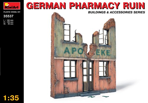Buy Low Price Dragon Models MiniArt Models 1/35 German Pharmacy Ruin Building with bonus figure set by Dragon Models (B002WSPA76)