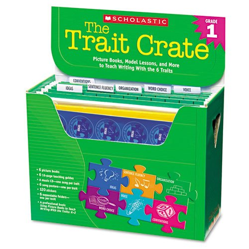 Scholastic - Trait Crate, Grade 1, Six Books, Learning Guide, Cd, More 0545074711 (Dmi Kt