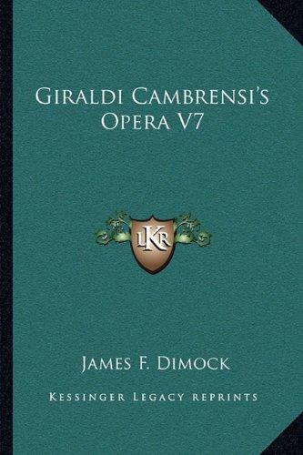 Giraldi Cambrensi's Opera V7