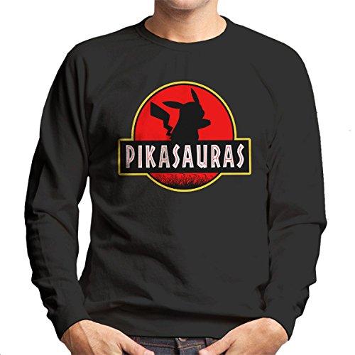 Pikachu-Pokemon-Jurassic-Park-Pikasaurus-Mens-Sweatshirt