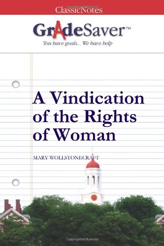 essay on vindication of right of women A vindication of the rights of woman is all about how being a mother would be easier (and better for the child) if a woman was educated in the same way that a man was, and encouraged to work in the same way a man was that way, the mother could continue to financially support her kiddos in case her husband croaked in an untimely fashion.