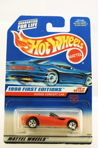 Hot Wheels - 1998 First Editions - Dodge Concept Car - Convertible - Red - #35 of 40 Cars - Die Cast - Collector #672 - Limited Edition - Collectible 1:64 Scale - 1