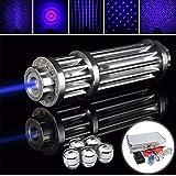 Blue, power : 1200MW Blue Pointer Flashlight lighted cigarette & match Beam Module 16340 Battery Charger box