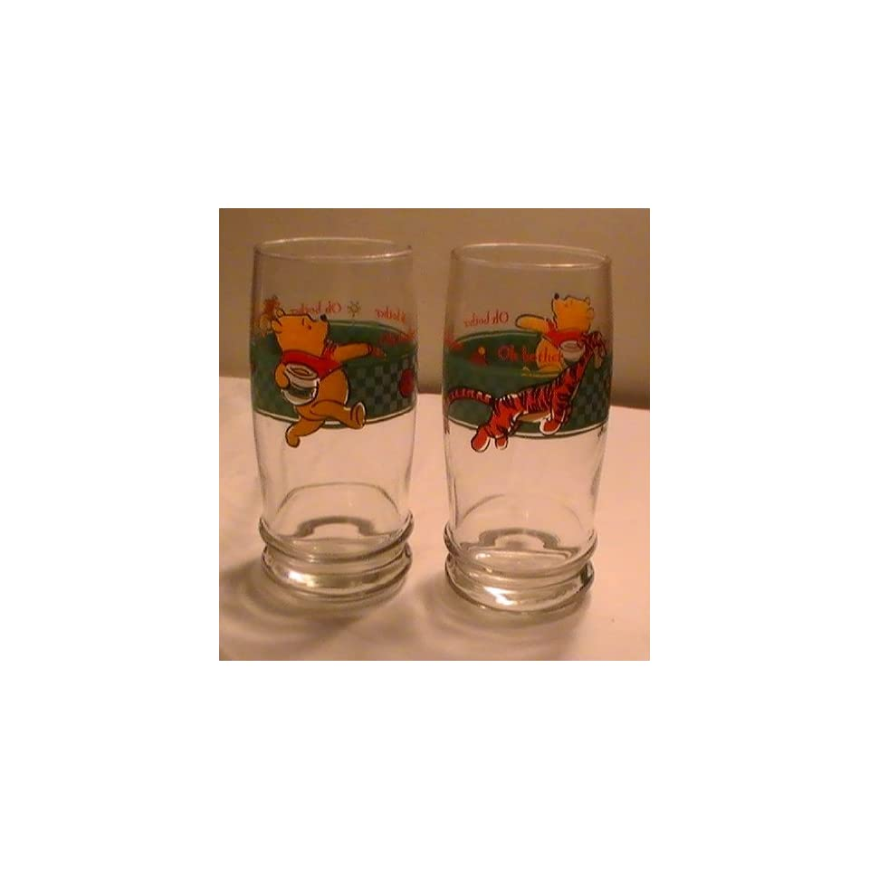 Disney Winnie the Pooh & Tigger 12 Oz. Oh Brother Drinking Glass   One (1) Glass