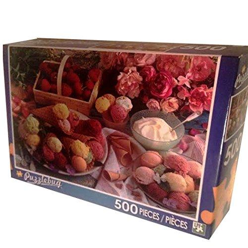 Puzzlebug 500 piece Puzzle - Ice Cream, Strawberries & Roses
