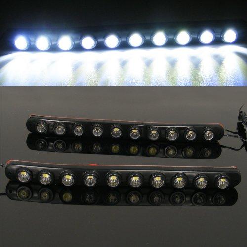 White Led With 10 Led Daytime Running Lights / Lamp Strip