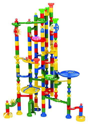 Edushape-Marbulous-Marble-Run-Contains-202-Pieces-and-50-Marbles-Total-252-Pc-Set-Sturdy-Setup-with-Clear-Step-by-step-Illustrated-Instructions