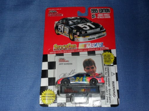 1995 NASCAR Racing Champions . . . Jeff Gordon #24 Dupont Chevy Monte Carlo 1/64 Diecast . . . Includes Collector's Card & Display Stand - 1