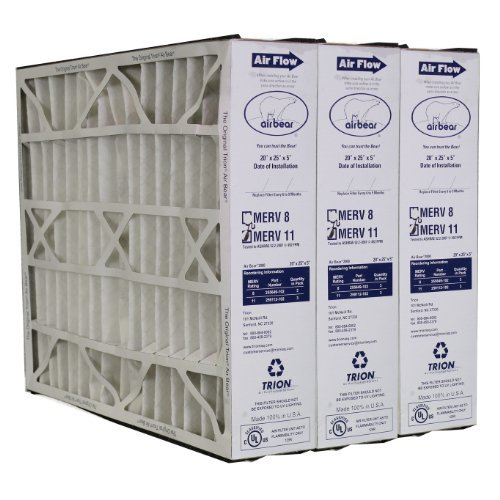 Trion Air Bear 259112-102 MERV 11 Filters (3-Pk) - 20x25x5 (Air Bear Air Cleaner compare prices)